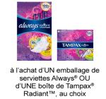 Coupon Rabais Hygiene Feminine A Imprimer De 2$ Sur pgEveryday