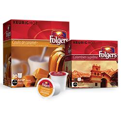 Walmart: Coupon Rabais Folgers K-cup Pods Gratuit Par La Poste De 1$