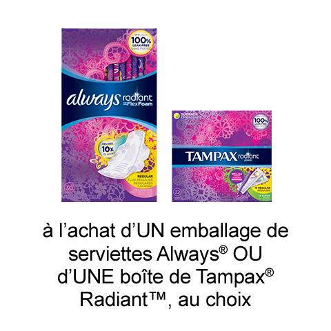 Coupon Rabais Imprimable De 1$ Sur pgEveryday Sur Hygiene Feminine