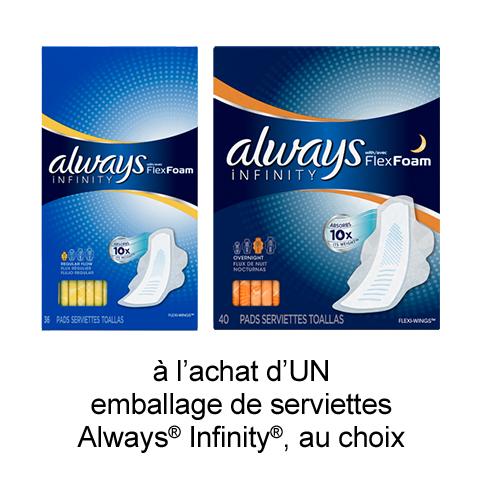Coupon Rabais Imprimable Pour Économisez 1$ Sur Always