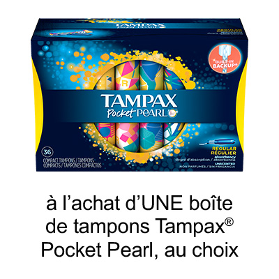 Obtenez Le Coupon Rabais Tampax A Imprimer De 1$