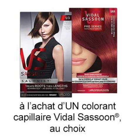 Coupon Rabais A Imprimer De 2$ Sur UniPrix Sur Vidal Sassoon