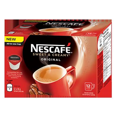 Coupon Rabais A Imprimer Gratuit Nescafe Sweet & Creamy De 3$ Sur UniPrix