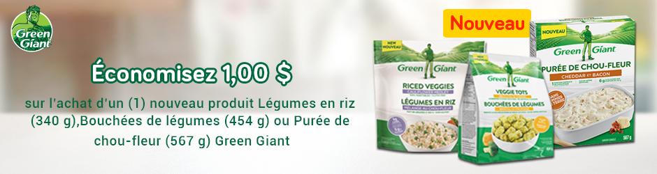 Coupon Rabais A Imprimer Sur Green Giant De 1$ Sur Walmart