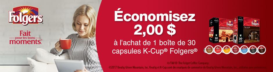 Coupon Rabais Folgers K-cup Pods Par La Poste Pour Économisez 2$