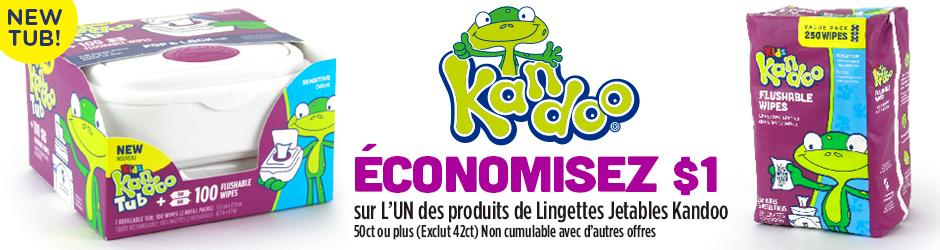 Coupon Rabais Lingettes Kandoo Gratuit Par La Poste De 1$ Walmart