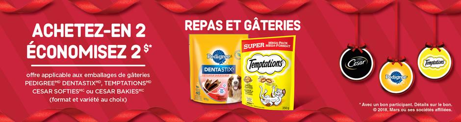 Coupon Rabais Pedigree Dentastix. Temptations. Cesar Softies Cesar Bakies Imprimable De 2$ Sur Walmart