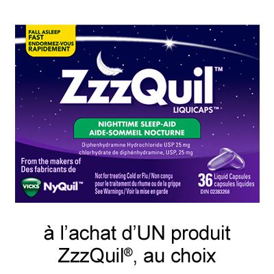 Coupon Rabais pgEveryDay Imprimable De 1$ Sur Zzzquil