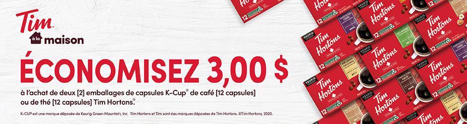 Coupon Rabais Postal Sur K-cup De Café Ou De Thé Tim Hortons De 3$ Walmart