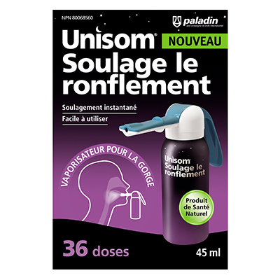 Coupon Rabais Unisom Soulage Le Ronflement Imprimable De 5$ Sur UniPrix