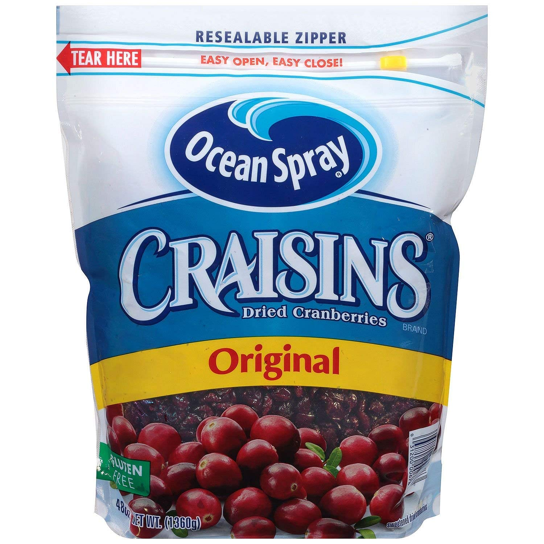 Coupon Rabais Ocean Spray Craisins Gratuit A Imprimer De 1$