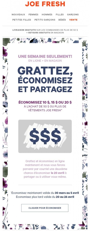 10 $, 15 $ Ou 20 $ L Découvrez Le Montant De Vos économies… Promotions Rabais