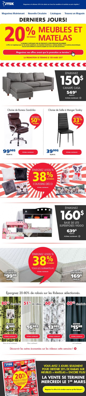 20% De Rabais Sur Les Meubles Et Matelas Promotions Rabais