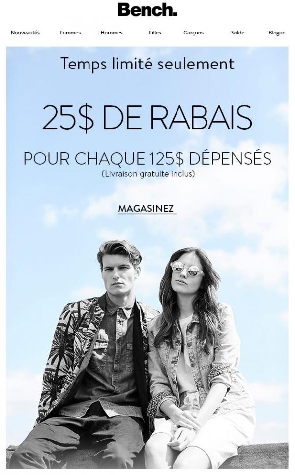 25$+ De Rabais Sur Votre Achat Promotions Rabais