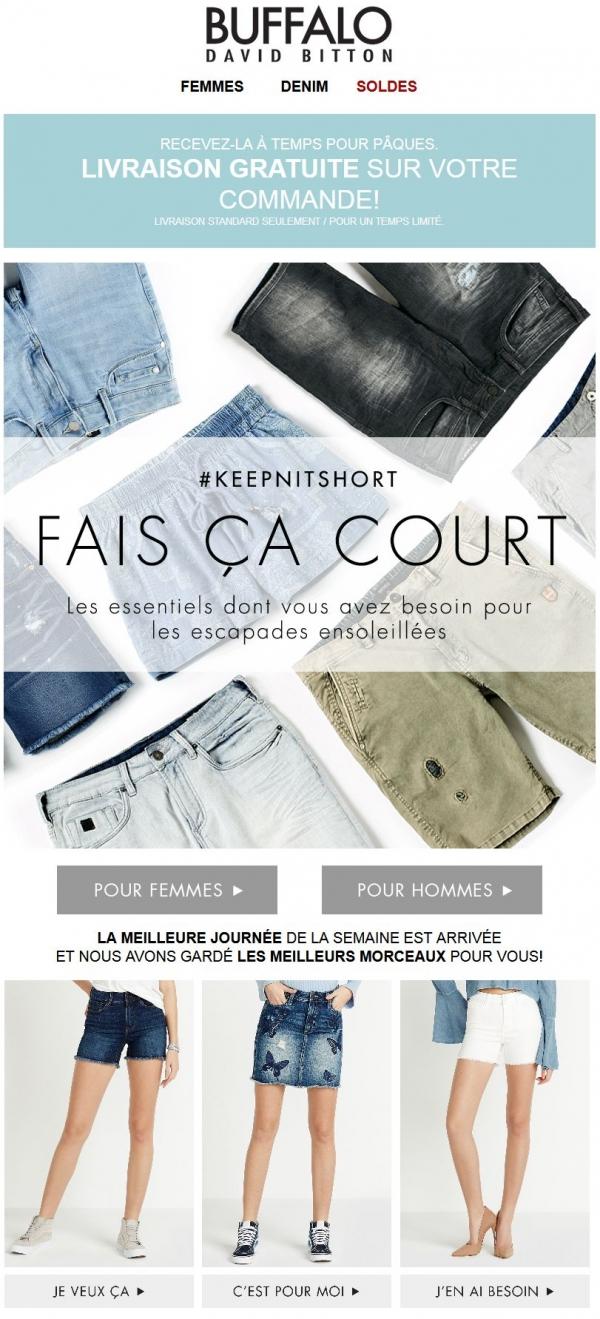 30% De Rabais Sur Les Shorts = La Meilleure Façon De Débuter Votre Vendredi! Promotions Rabais