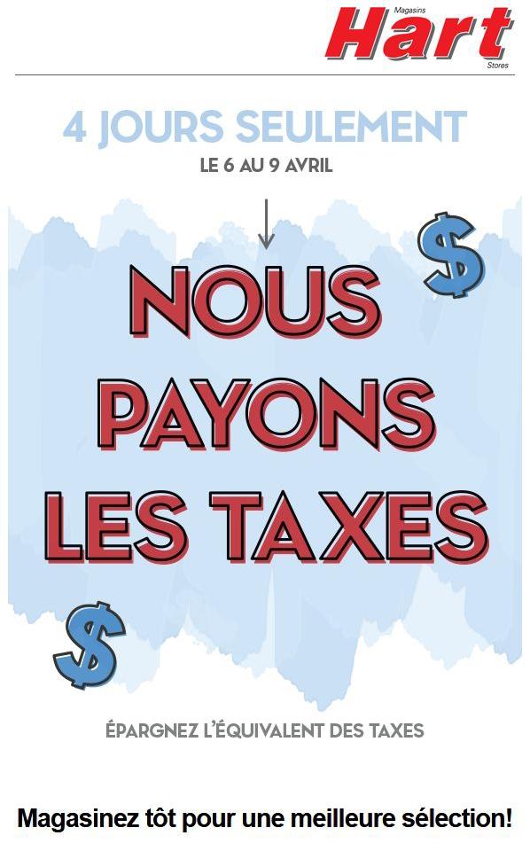 4 Jours Seulement Pas De Taxes? Promotions Rabais