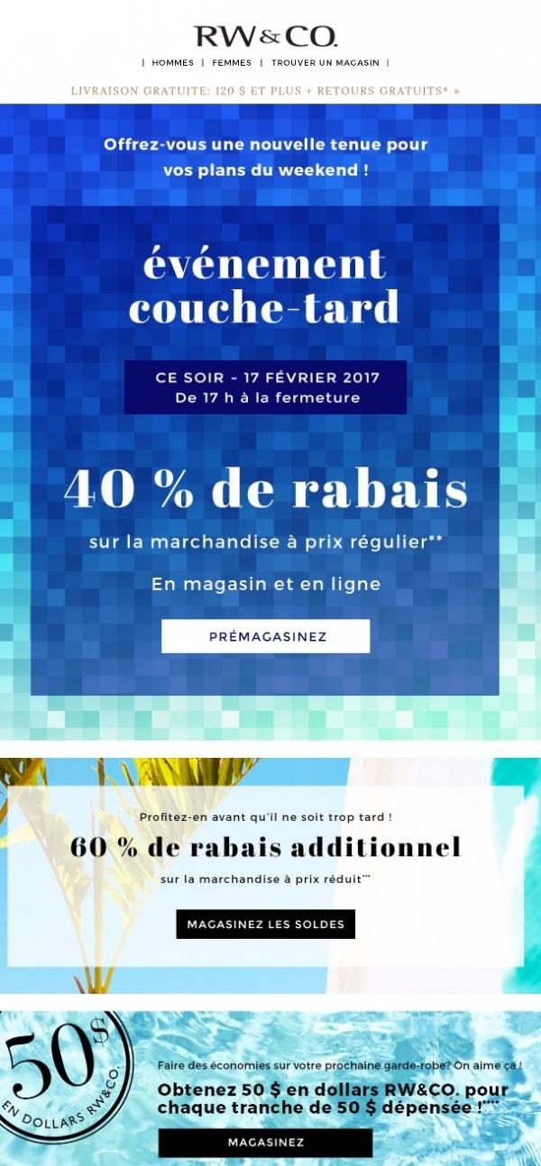 40 % = ça Commence Bien Le Weekend ! Promotions Rabais