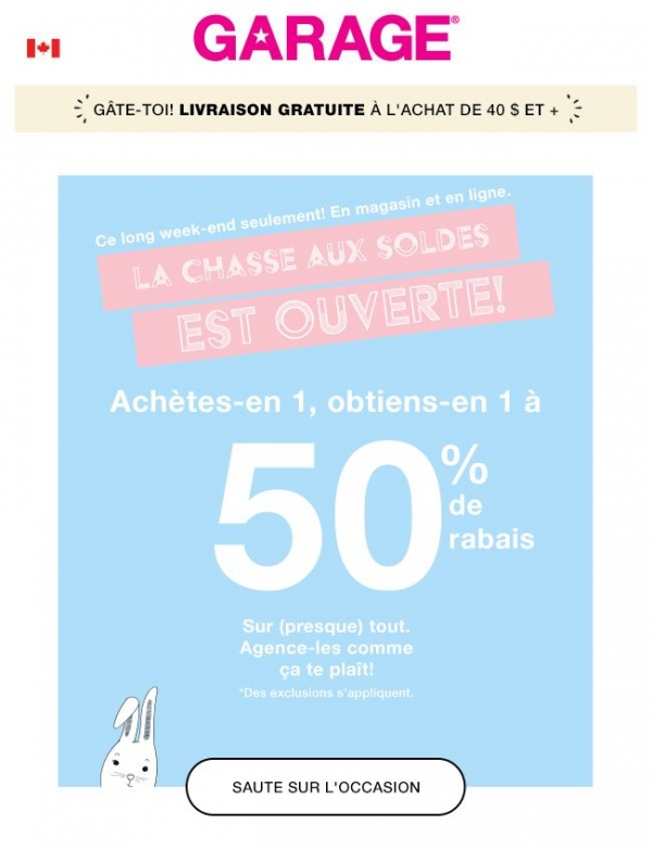 50 % De Rabais Sur Le 2e Article! Promotions Rabais