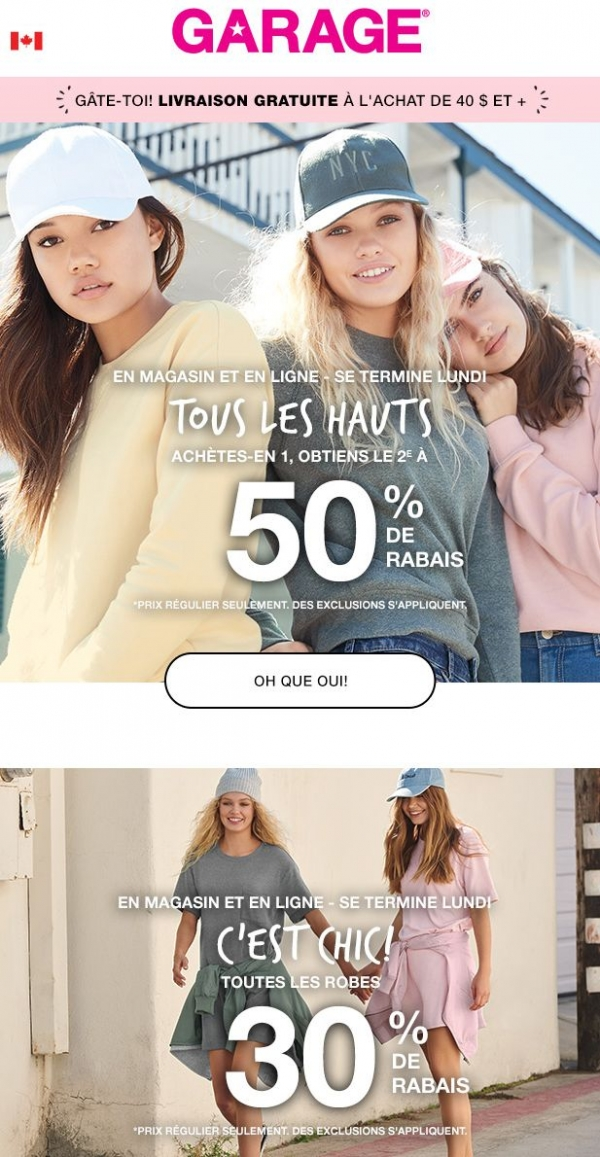 50 % De Rabais Sur Le 2e Haut Promotions Rabais