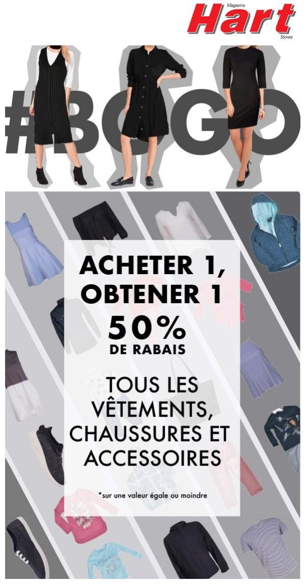 Achètes En 1, Obtiens En 1 à 50 % Vêtements, Chaussures Et Accessoires Promotions Rabais