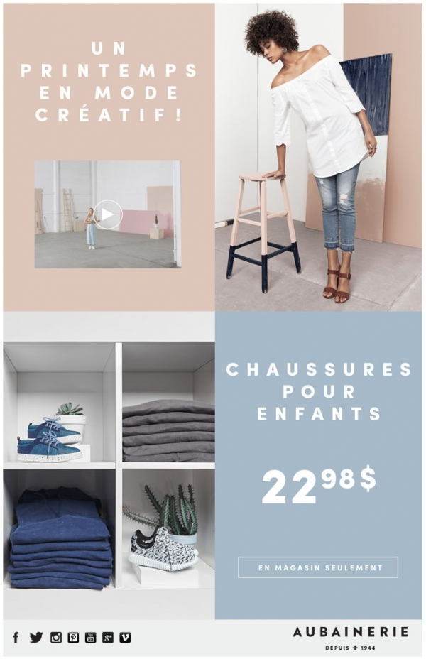 Aubainerie : Un Printemps En Mode Créatif ! Promotions Rabais