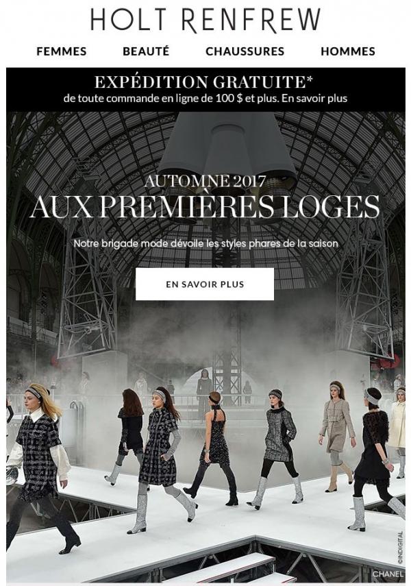 Automne 2017 : Aux Premières Loges Promotions Rabais