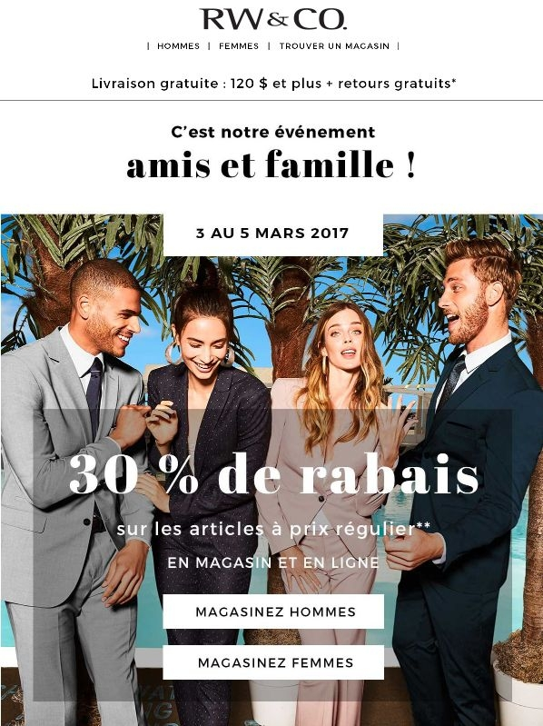 Célébrons Notre Amitié Avec 30 % De Rabais ! Promotions Rabais