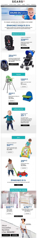 Chers Parents, Les Jours Du Bébé Sont De Retour! Promotions Rabais
