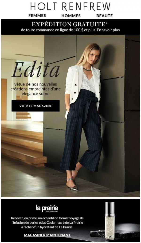 De Notre Magazine : élégance Sobre Printanière, Mettant En Vedette Edita Promotions Rabais