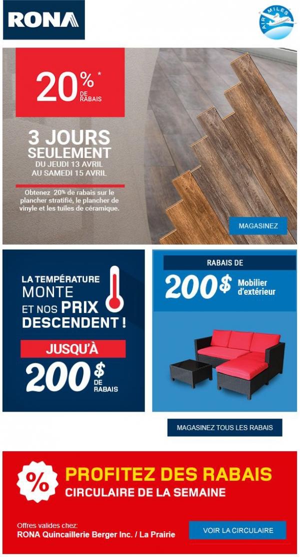 Débute Maintenant 20% De Rabais Sur Le Couvre Plancher Sélectionné Promotions Rabais