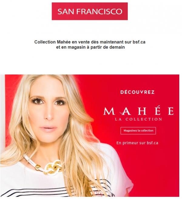 Découvrez La Collection Mahée En Primeur Sur Bsf.ca! Promotions Rabais