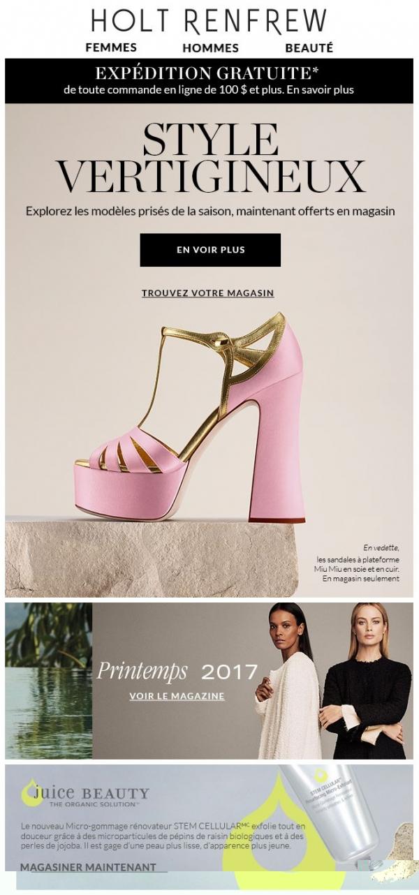 Découvrez Notre éventail De Chaussures Printanières Promotions Rabais