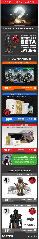 Destiny 2 Tout Juste Annoncé! Promotions Rabais