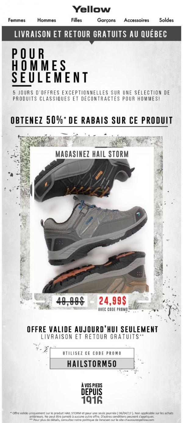 Deuxième Journée Des Offres: Hail Storm à 50% De Rabais! Promotions Rabais
