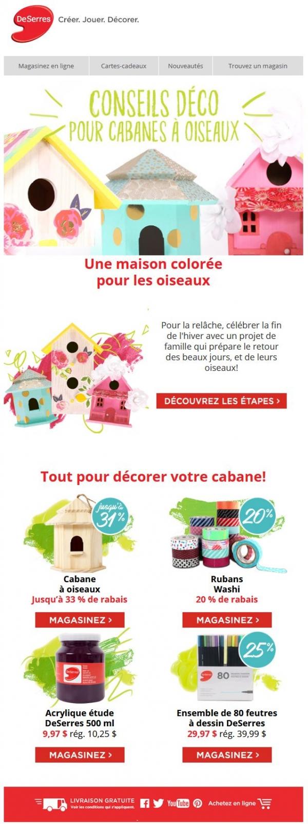 Devancez Les Oiseaux! Promotions Rabais