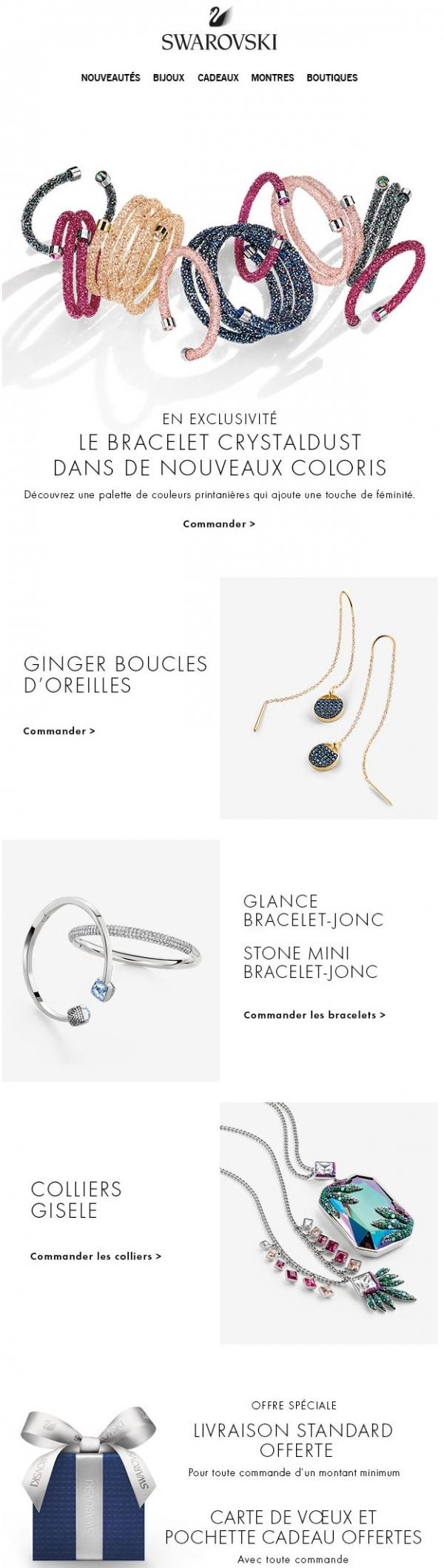 Exclusif : Les Nouvelles Couleurs Des Bracelets Joncs Crystaldust ! Promotions Rabais