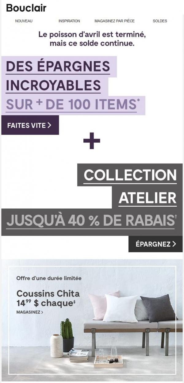 Jusqu'à 40 % De Rabais Sur Atelier #omg Promotions Rabais