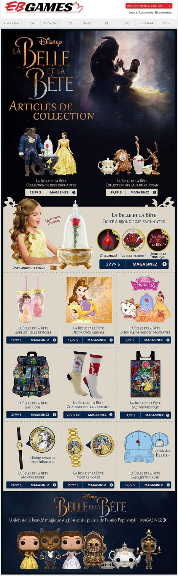 La Belle Et La Bête Articles De Collection Promotions Rabais