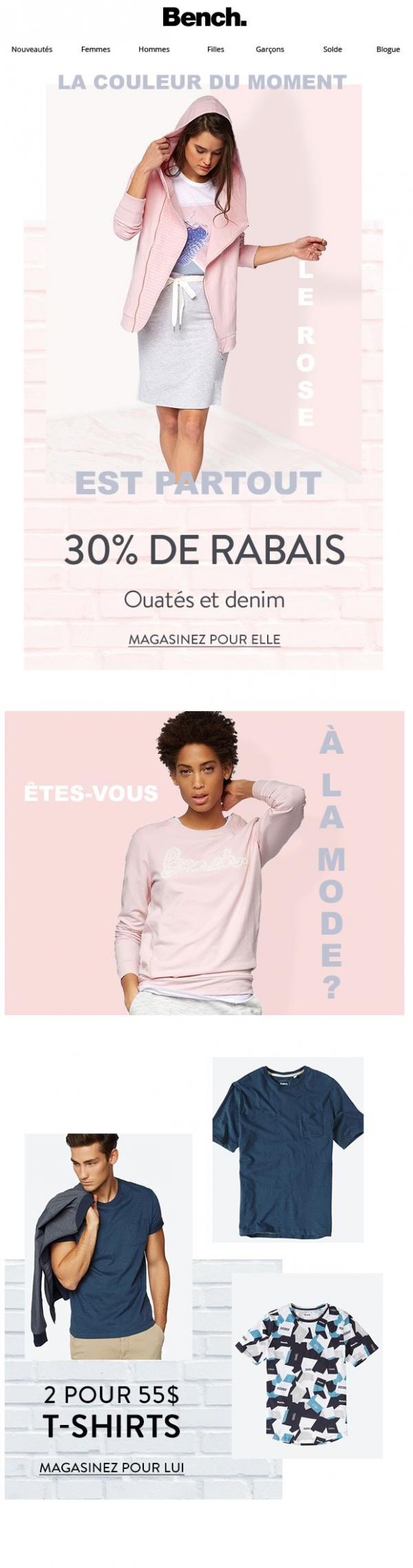 La Tendance Qu'on Aime   Le Tout En Rose Promotions Rabais