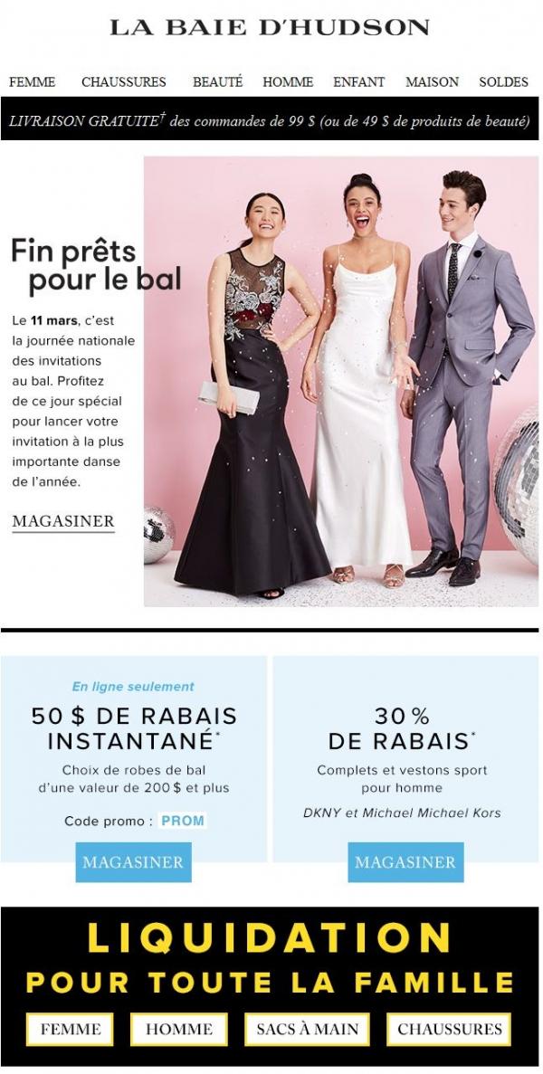 Le Bal Approche à Grands Pas : 50 $ De Rabais Et Plus Encore Promotions Rabais