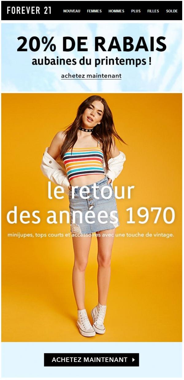 Le Retour Dans Les Années 1970 ! Promotions Rabais