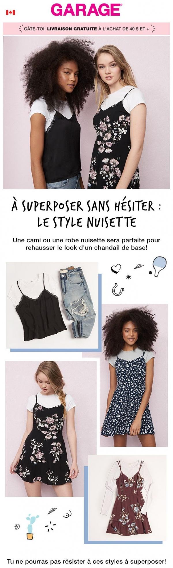 Le Style Nuisette Vole La Vedette Promotions Rabais
