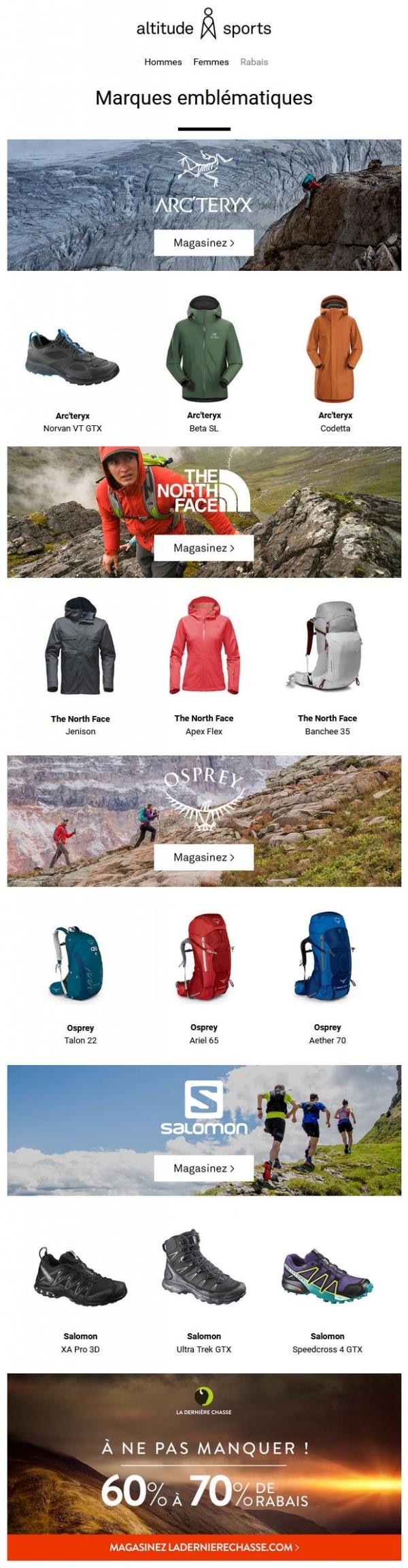 Les Dernières Nouveautés The North Face, Arc
