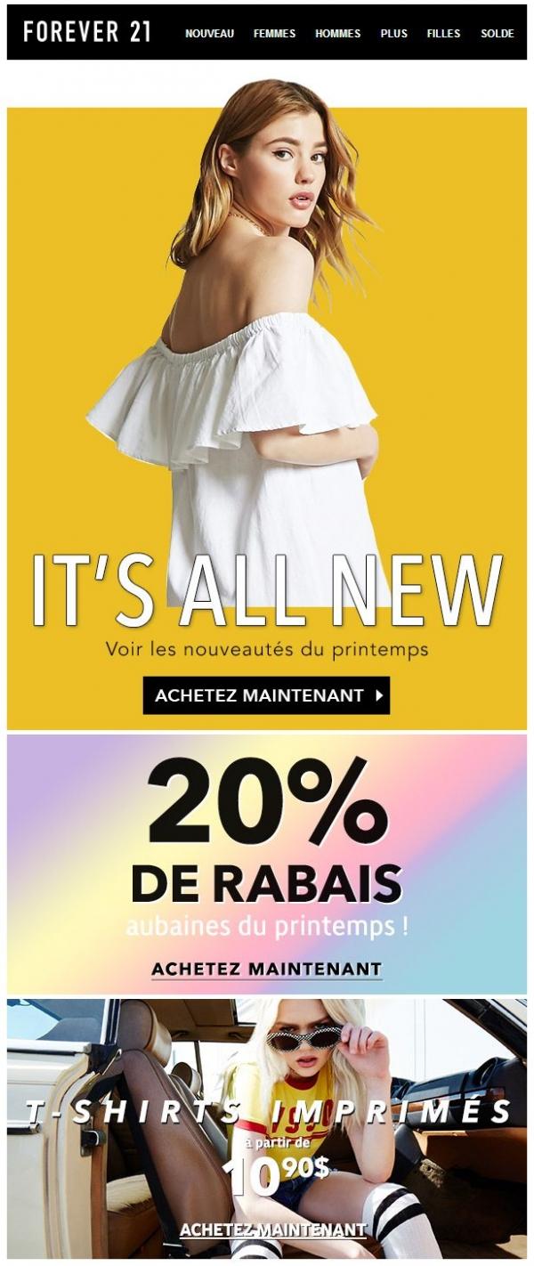 Les Nouveautés Du Printemps Promotions Rabais