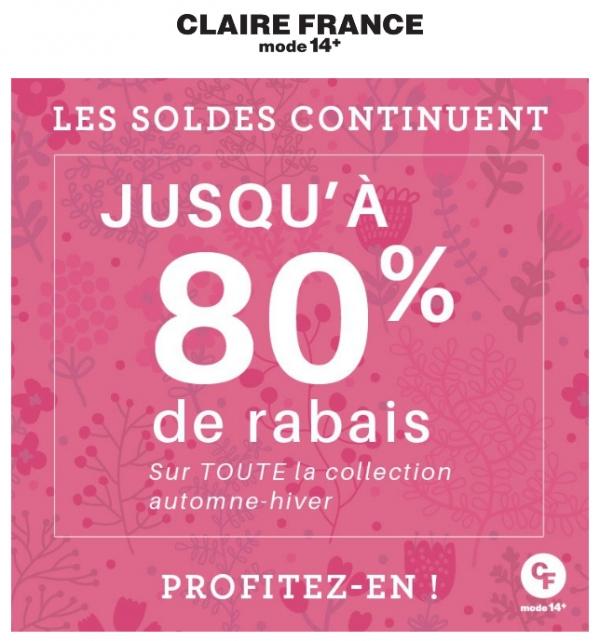 Les Soldes Continuent! 80% Sur La Collection Automne Hiver! Promotions Rabais