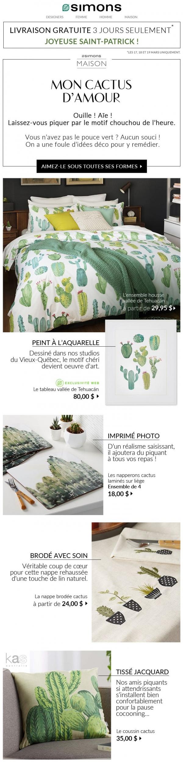 Livraison Gratuite + Des Cactus à Perte De Vue ! Promotions Rabais