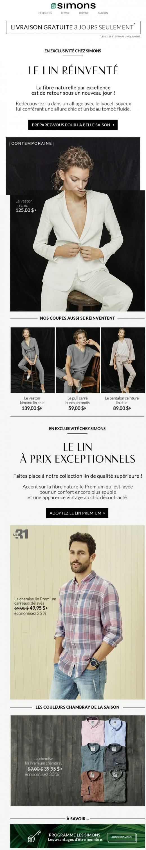 Livraison Gratuite + Le Lin Est Arrivé ! Promotions Rabais