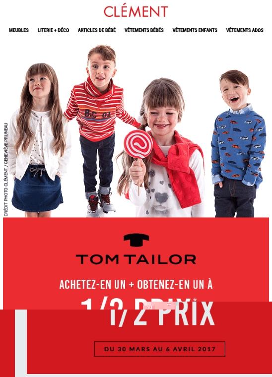 Moitié Prix Sur Le 2e Article De La Collection Tom Tailor! Promotions Rabais
