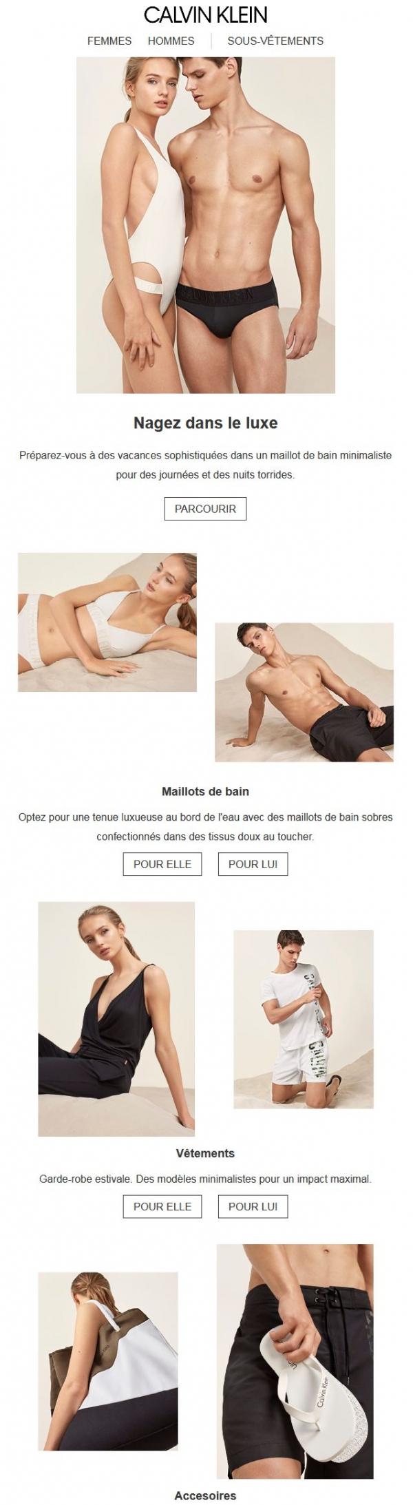 Nagez Dans Le Luxe: Maillots De Bain Sophistiqués Pour Elle + Lui Promotions Rabais