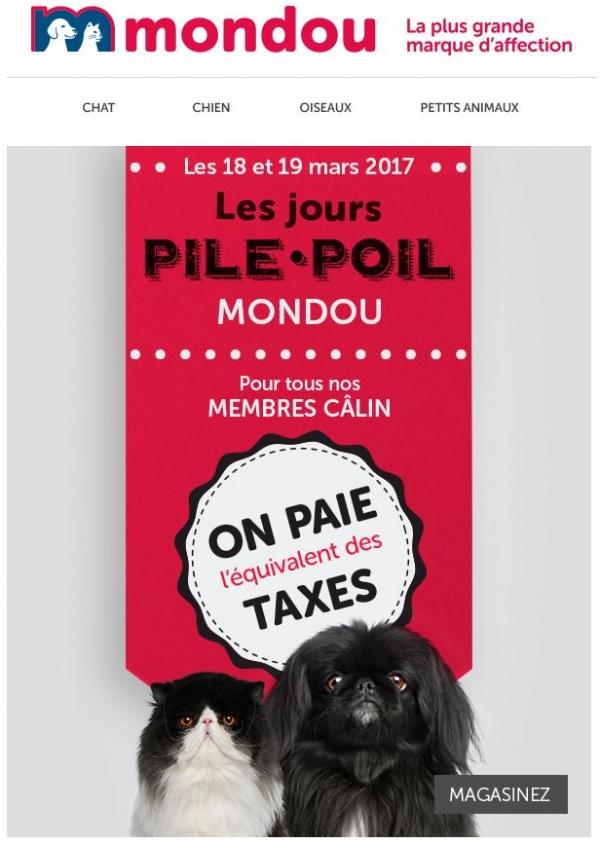 Ne Manquez Pas Les Jours Pile Poil ! Promotions Rabais